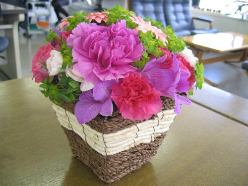 お祝いの頂いたお花
