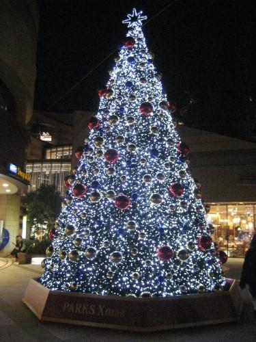 難波パークスのクリスマスツリー