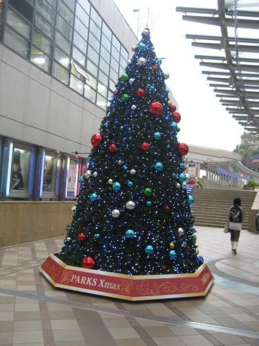 なんばパークスのクリスマスツリー