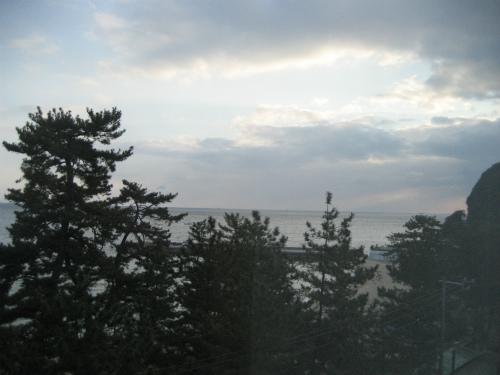 ホテルからの朝の景色