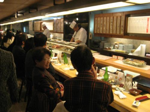 「MUKKの会」で「がんこ寿司なんば店」に行きました