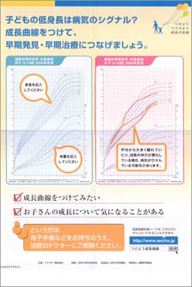 子どもの成長曲線をつけて、病気の早期発見・早期治療につなげましょう