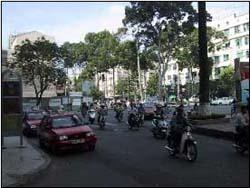 サイゴン名物バイク群