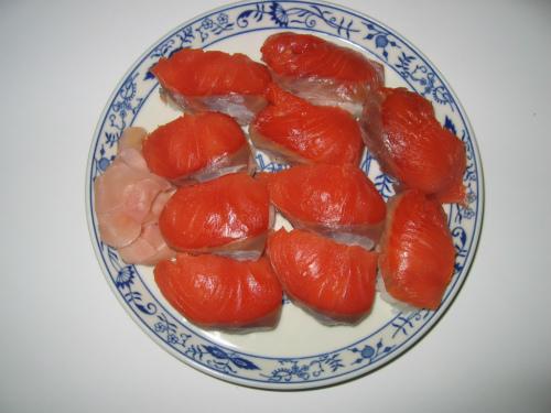 サーモンのにぎり寿司
