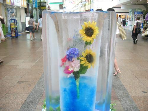 センター街の氷柱