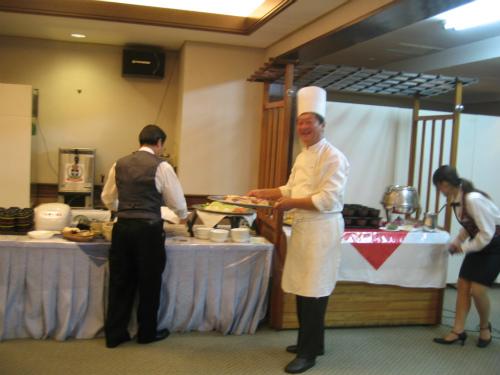 朝日会感謝祭 料理の準備