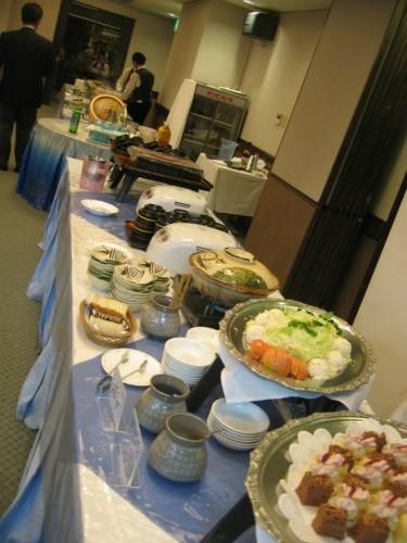 朝日会感謝祭 料理