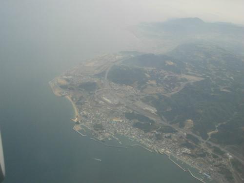 明石海峡の海の上空