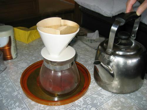 神戸から持ってきたコーヒー豆