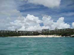 ムーンビーチの浜辺