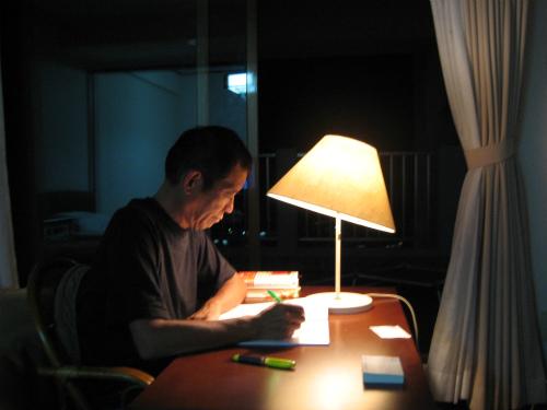 勉強する松葉博雄