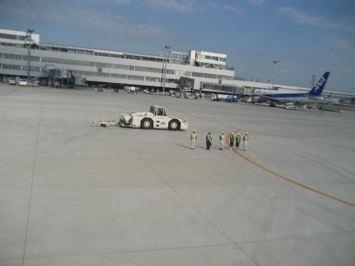 神戸空港の見送り