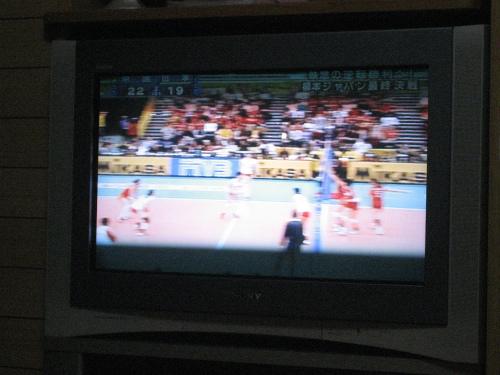 全日本のバレーチームが強敵の中国と試合