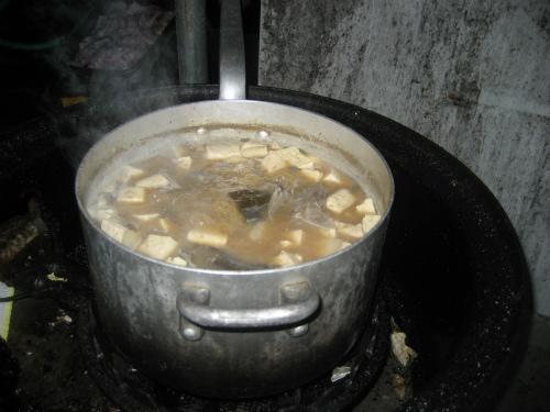 鰹のアラの味噌汁