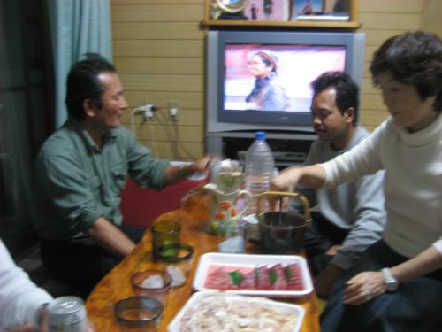 朝日会の後は、金城正浩さんのお宅を訪問