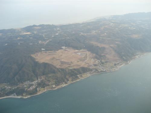 淡路島上空に入ると、もうすぐ着陸態勢です