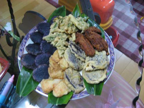 金城初子さんの野菜の天ぷら