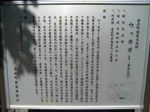 金武町指定文化財の「ウッカガー(金武大川)」