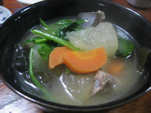 三度豆のフライトソーキ汁
