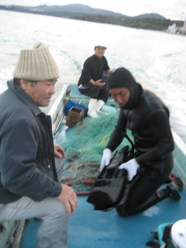 アイゴの大きいのが2匹と、いろいろな種類の魚が獲れていました