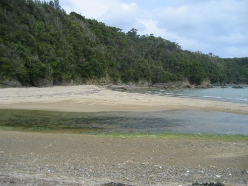 東村から、前兼久に戻る道には、素晴らしい海岸線が続きます
