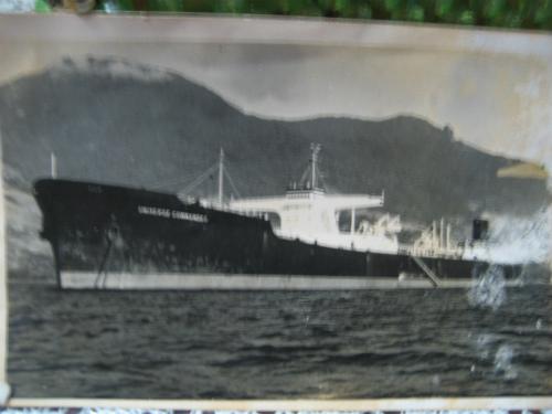 山城善一さんが仕事でタンカーに乗ったときの写真