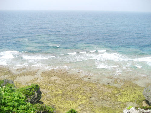 潮が引いて、遠くまでリーフが見えます