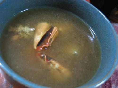 テラジャーの出汁で作ったアーサ汁