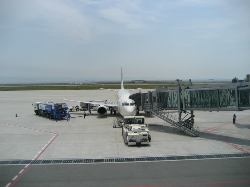 飛行機に乗り込んで、これから沖縄に向かいます