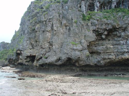 浜比嘉島の珊瑚の岩礁