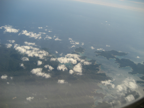 飛行機から見る離島