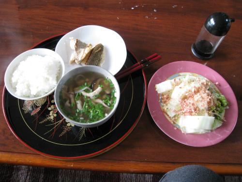 金城家で朝ご飯