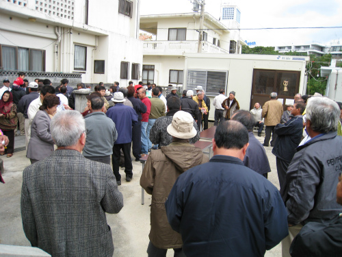 村の鎮守の参拝