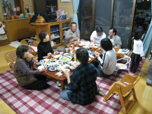 金城家で晩御飯