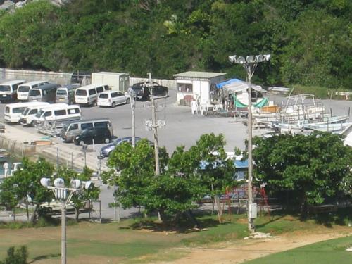 ホテルから見るムーンビーチ