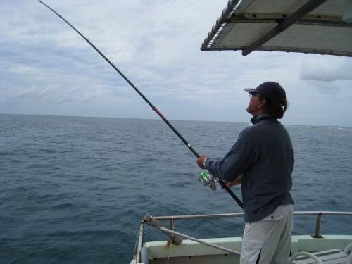 冨着ビーチで釣り&シュノーケリング