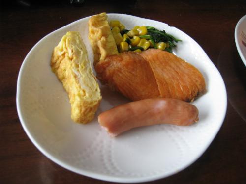 金城家で朝食