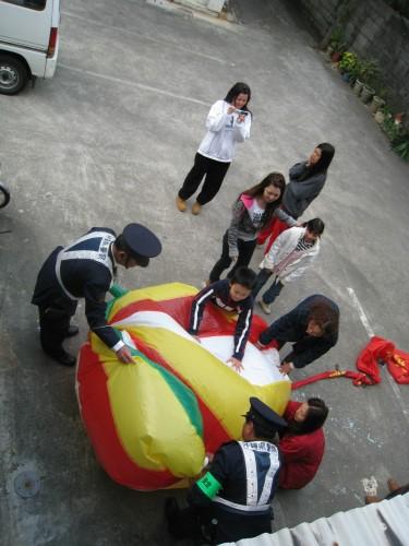 中国から飛んできた風船