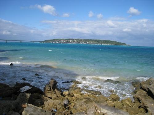 「愛楽園」の浜辺