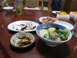 金城家で晩ご飯