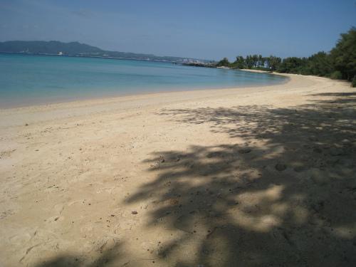 許田のビーチ