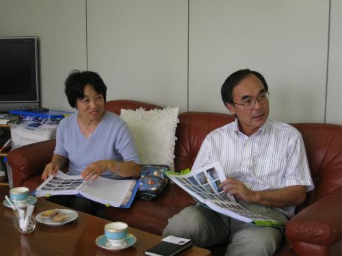 沖縄研究室の親善訪問