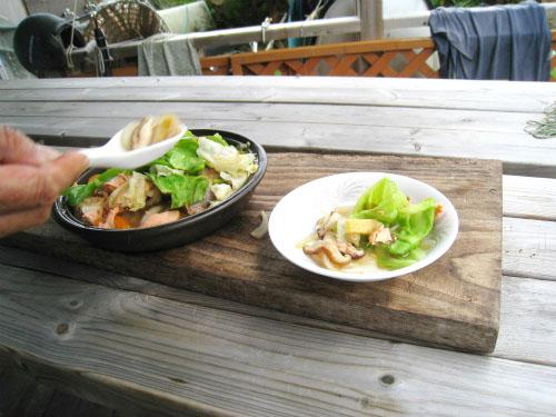 片山正喜さんの家で晩ご飯