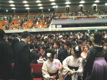 大阪市立大学大学院修了式@大阪城ホール