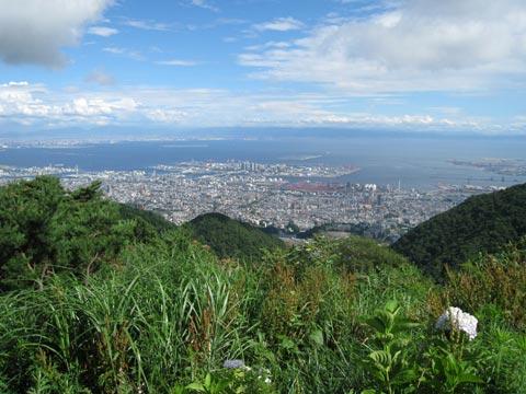 松葉博雄のいい写真撮りたいな:「真夏の六甲山の展望台から」