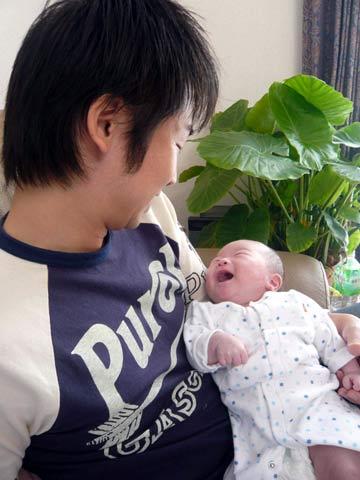 松葉博雄のいい写真撮りたいな:「父子~至福の時間」