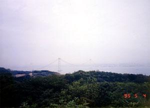建設中の明石大橋