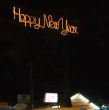 旧正月の電飾がありました