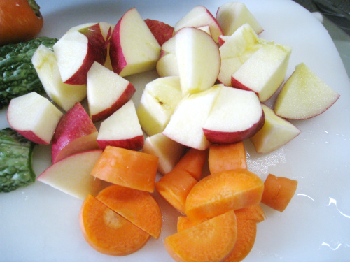朝食と健康野菜ジュース