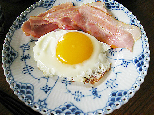 減塩の朝ご飯